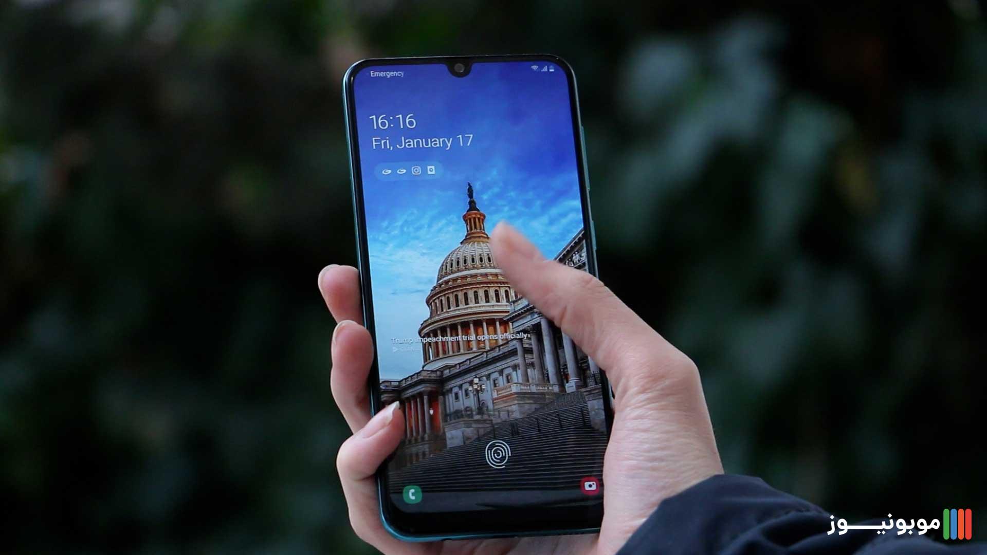 نمایشگر Galaxy A50s