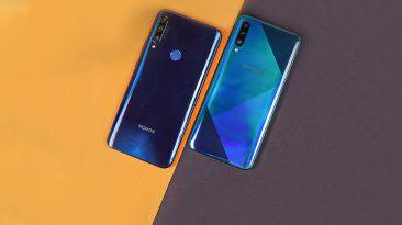 برر سیگوشی Honor 9x Vs Galaxy A50s
