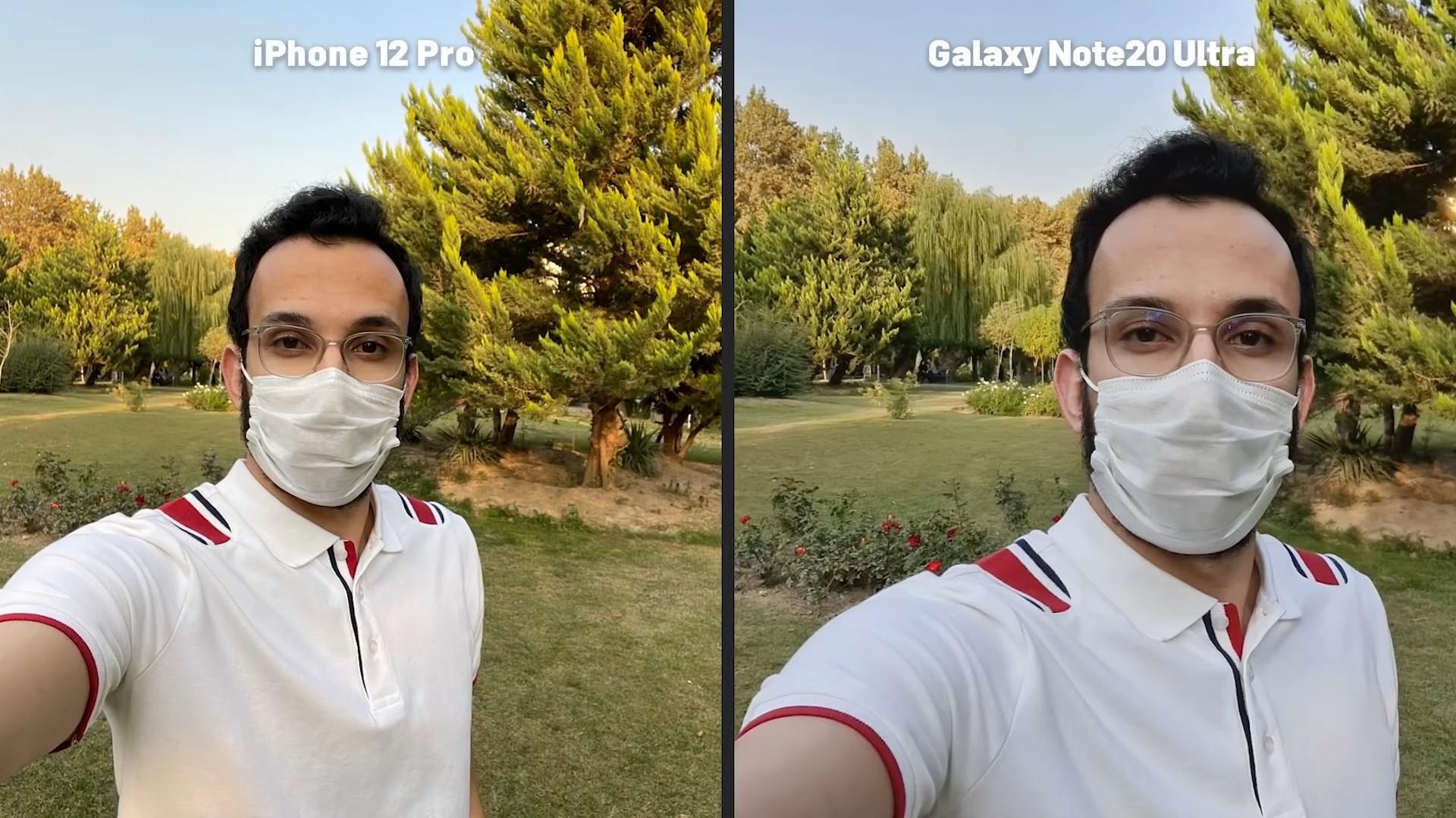 مقایسه دوربین سلفی iPhone 12 Pro Vs Note 20 Ultra