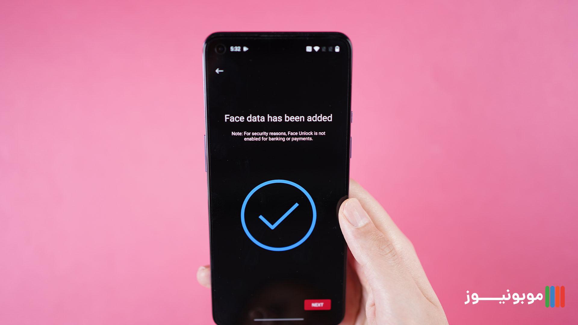 تشخیص چهره OnePlus 9