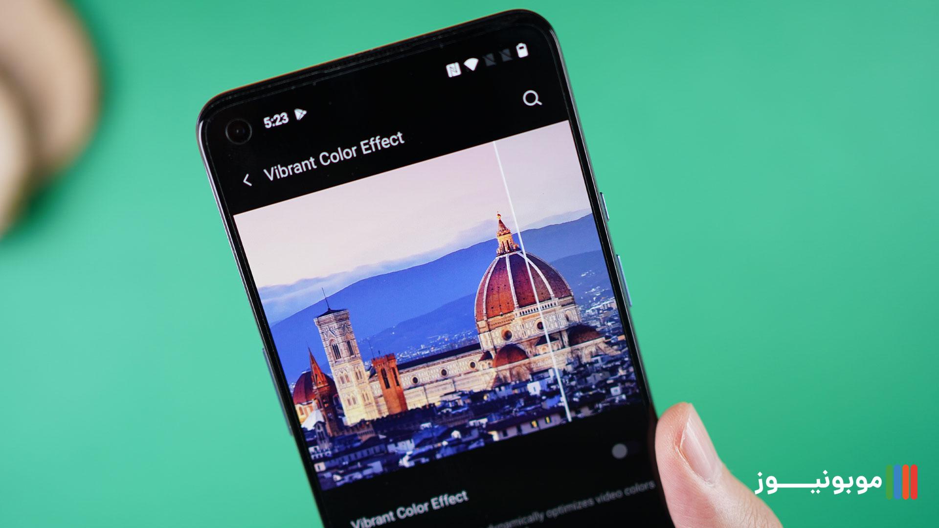 اصلاح رنگ و کیفیت تصحیح رنگ OnePlus 9