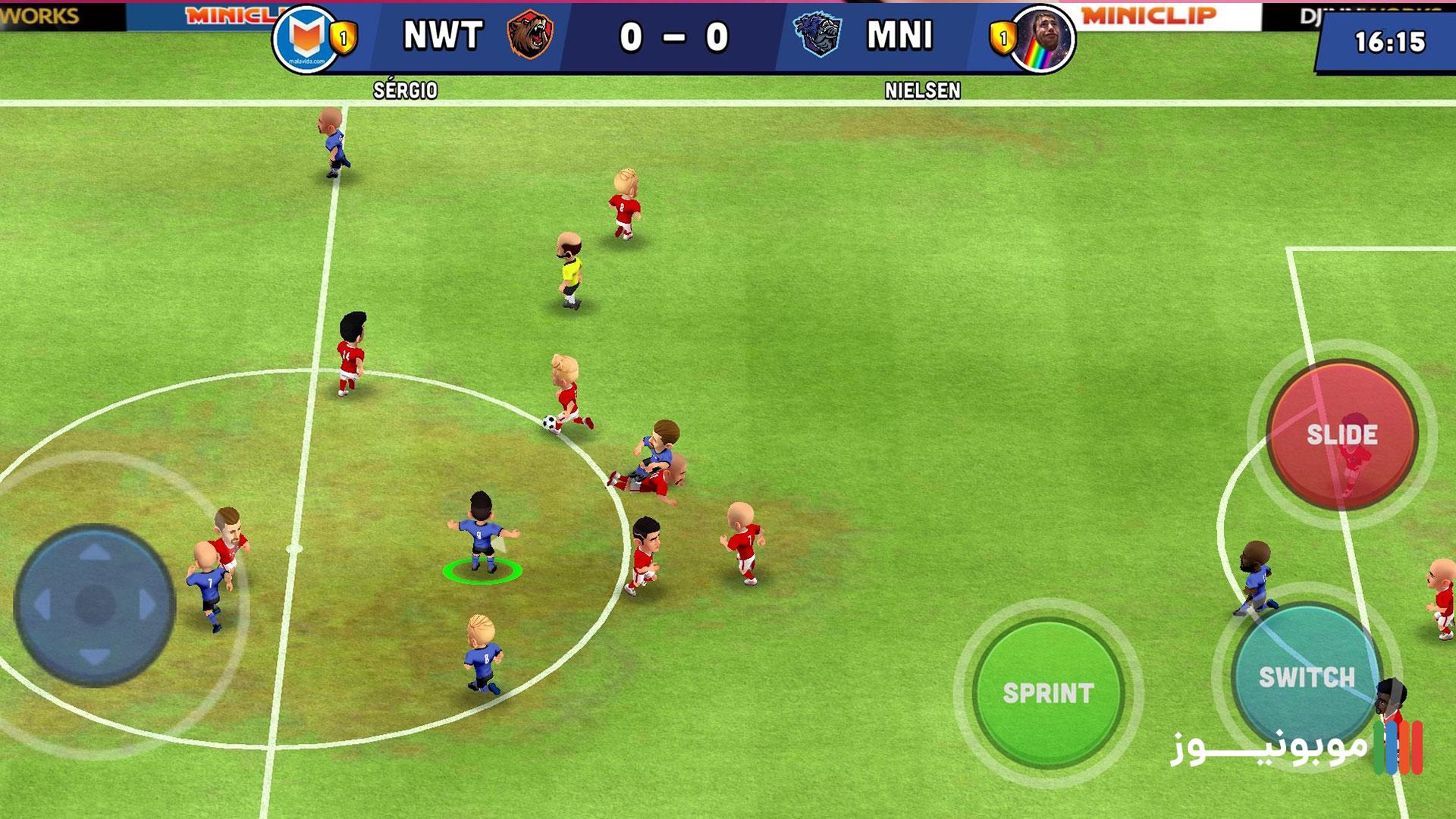 گیم پلی بازی مینی فوتبال برای موبایل